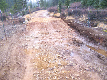 Road repair is part of Forest Service care.
