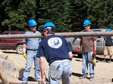 MHJC members readily volunteer for trail restoration work.