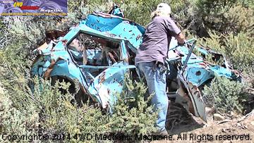 Rusting Datsun station wagon a