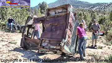 Pickup truck body and bed cut up and hauled out!
