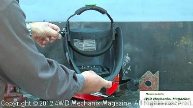Adjustable headgear on HTP Striker Stealth CSV welding helmet