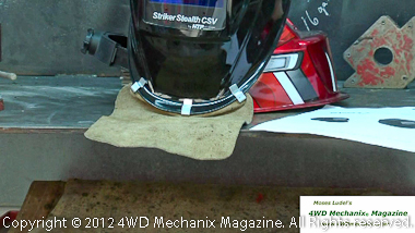 Safety neck protection for welding