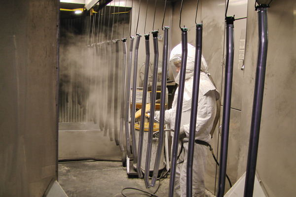 In-house powder coating is just one more function at the plant.