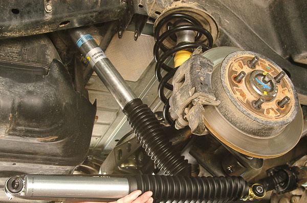 Bilstein 5100 series shock absorbers.