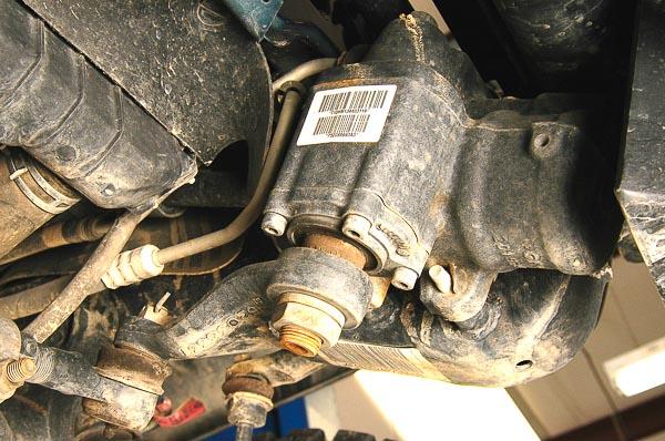 TJ Wrangler Rubicon power steering gear.