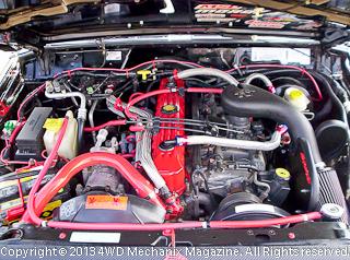 Underhood of 4.0L 1998 Jeep XJ Cherokee 4x4