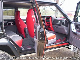 Custom interior on show winning 1998 Jeep XJ Cherokee 4x4