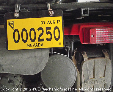 Nevada's new OHV permit for ATV/UTV and dirt motorcycles