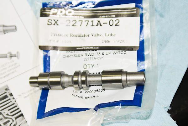 Sonnax 22771A-02K Pressure Regulator Valve Lubing Design