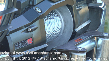 Warn Zeon is available in synthetic rope or traditional wire.