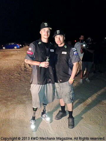 Jesse Williamson and Nick Hamm the morning of the race start!