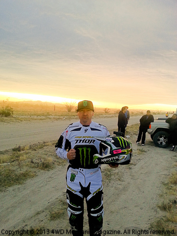 Nick Hamm in Mexico, race-ready