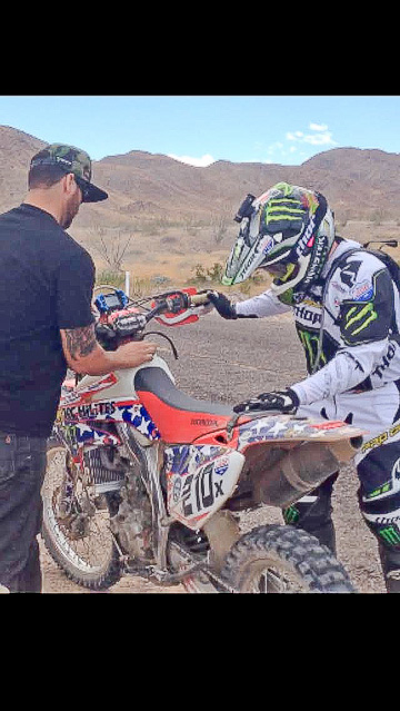 Jesse ready to ride off into the Mexican Baja 1000 Race!