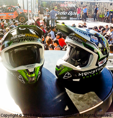 Helmets for two men about to ride the Baja 1000 Race!