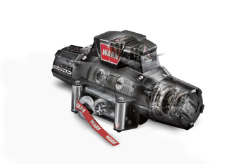 Warn ZEON winch with wire rope