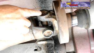Dodge Ram lighter duty single piece driveshaft with hefty balancer. The balancer places additional load on the slip yoke coupler.