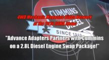Advance Adapters and Cummins 2.8L Diesel Engine Conversion for Jeep®