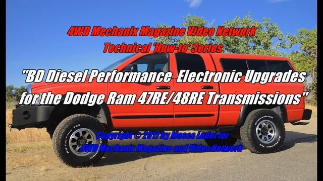 Ram Truck 47RE and 48RE Transmission In-Chassis Survival