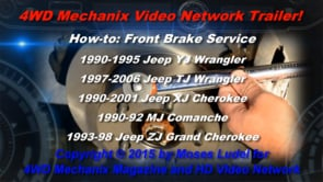 How-to: 1990-2006 Jeep Disc Brake Pads and Rotors Service