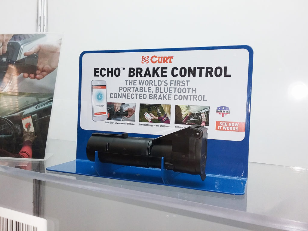 This Curt Echo™ Brake Control can be set up with a cell phone and app.